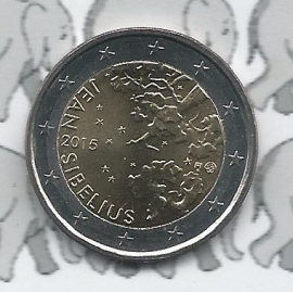 """Finland 2 euromunt CC 2015 """"150ste geboortedag van Jean Sibelius"""""""