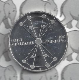 """Duitsland 20 euromunt 2018 (15e) """"100ste verjaardag Ernst Otto Fischer"""", zilver"""