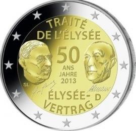 """Duitsland 2 euromunt CC 2013 (12e)""""Elysee verdrag met Frankrijk"""""""