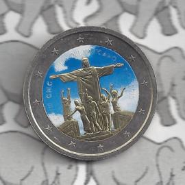 """Vaticaan 2 euromunt 2013 """"28ste Wereld Jongerendagen in Rio de Janeiro"""" (kleur x)"""