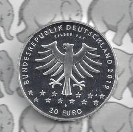 """Duitsland 20 euromunt 2019 (16e) """"100 jaar Vrouwenkiesrecht"""", zilver"""