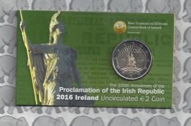 "Ierland 2 euromunt CC 2016 ""100 jaar sinds de Paasopstand van 1916"", in coincard"