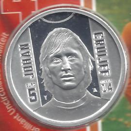 "Nederland 5 euromunt 2017 (35e) ""Johan Cruijff vijfje"" (los)"