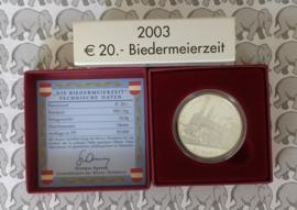 "Oostenrijk 20 euromunt 2003 ""Biedermeierzeit"""