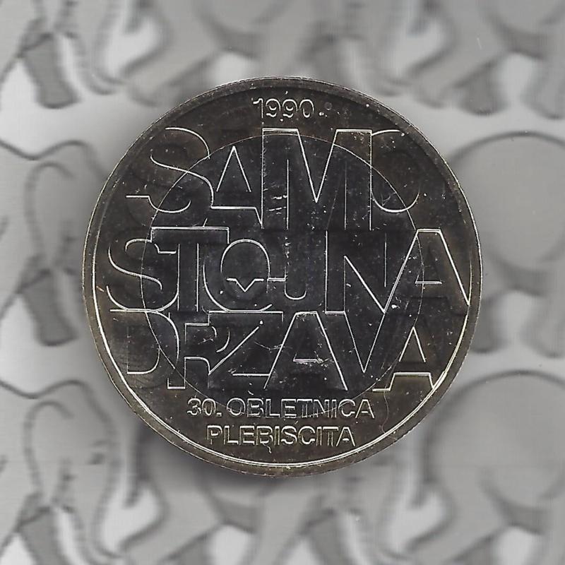 """Slovenië 3 euromunt 2020 """"30e verjaardag van een volksraadpleging over soevereiniteit en onafhankelijkheid van de Republiek Slovenië"""""""