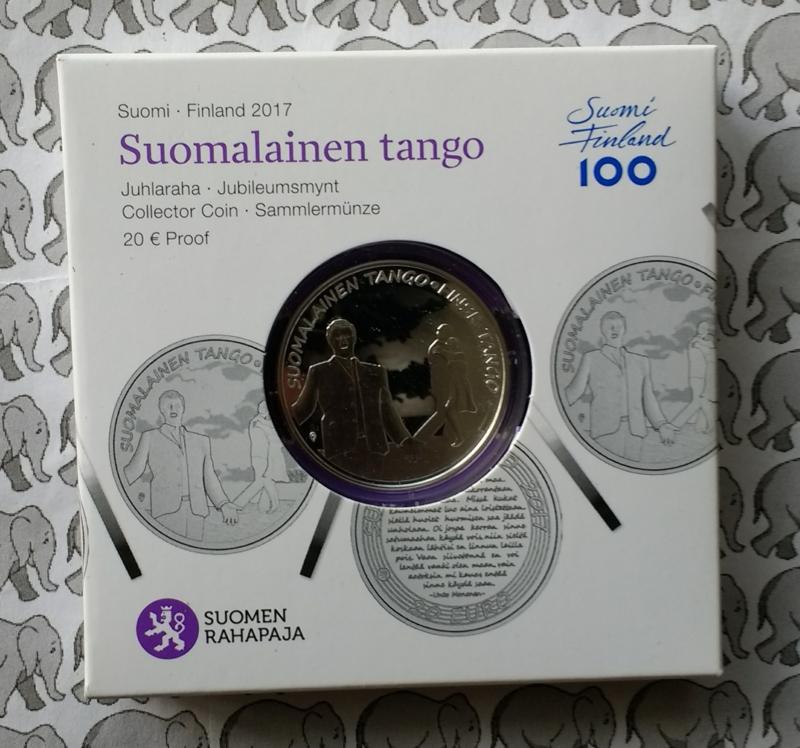 """Finland 20 euromunt 2017 """"Tango"""""""