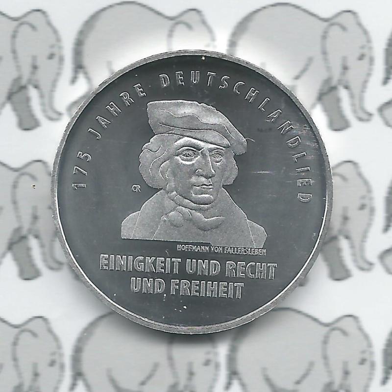"""Duitsland 20 euromunt 2016 (4e) """"175 jaar Duitslandlied"""", zilver"""