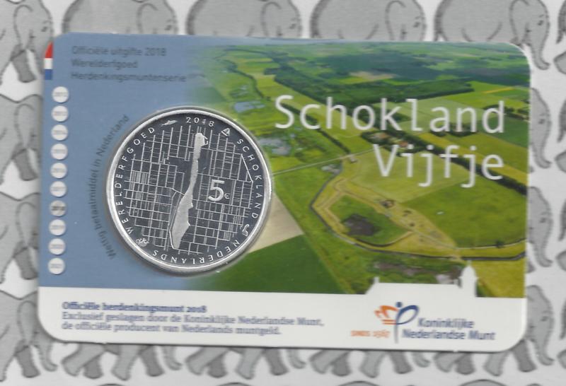 "Nederland 5 euromunt 2018 (39e) ""Schokland vijfje"" (in coincard)"