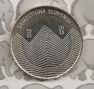 "Slovenië 3 euromunt 2011 ""20 jaar Slovenië"""