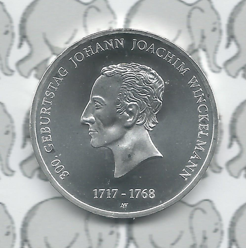 "Duitsland 20 euromunt CC 2017 (10e) ""300e verjaardag van Johann Joachim Winckelman"", zilver"