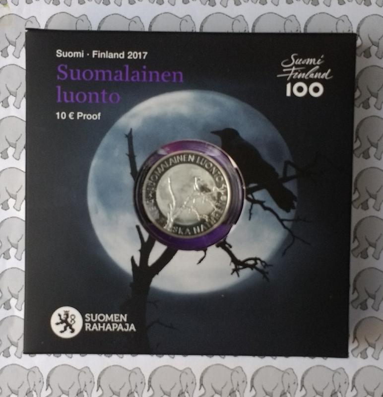 """Finland 10 euromunt 2017 """"Finse natuur"""""""