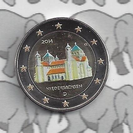 """Duitsland 2 euromunt CC 2014 """"St. Michaeliskirche te Hildesheim, Niedersachsen"""" (kleur 1)"""