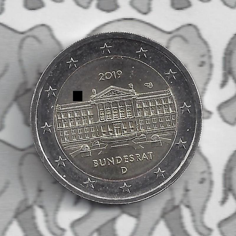 "Duitsland 2 euromunt CC 2019 ""70 Jaar Bondsraad"""