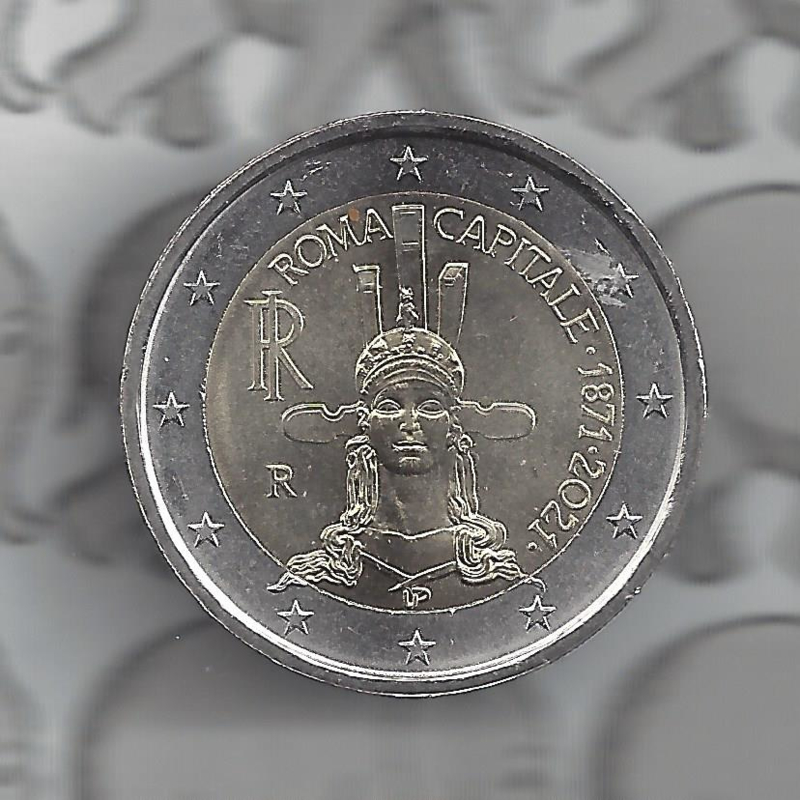 "Italië 2 euromunt CC 2021 (28e) ""Rome hoofdstad van Italië"""