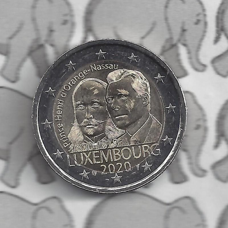 "Luxemburg 2 euromunt CC 2020 ""Prins Hendrik"""