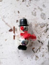 Vintage kersthanger, sneeuwpop.