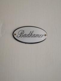 Emaille deurplaat badkamer, deurplaatje badkamer.