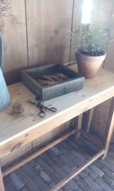 Leuke oude werktafel, vintage sidetable
