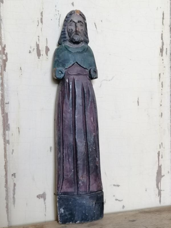 Bijzondere oud houten ornament, figuur.