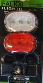Setje LED-verlichting (voor + achter)