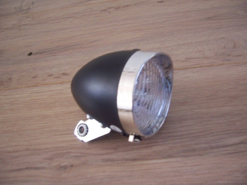 LED-koplamp (zwart)