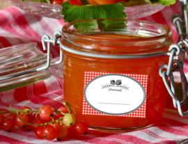 Homemade Jam Label Aardbei Roodruitje (PDF)