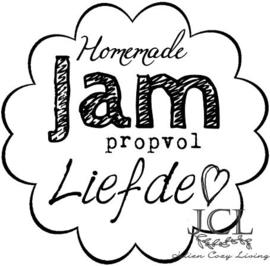 Homemade Jam Propvol Liefde Bloemvormig (PDF)