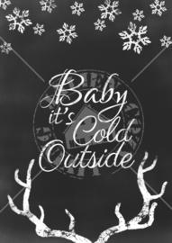 Baby it's Cold Outside Poster (PDF zelf printen)