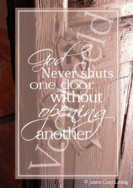 God Never Shuts a Door