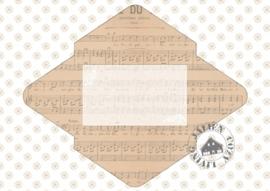 Brocante Kerst Briefpapier (set 4 PDF zelf printen)