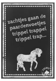 Poster Zachtjes gaan de Paardenvoetjes (PDF)