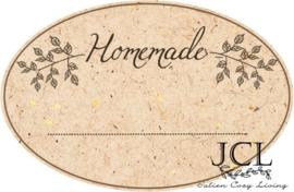 Etiket Homemade Ovaal Kraft (PDF)
