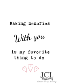 Poster Making memories with you... (PDF)