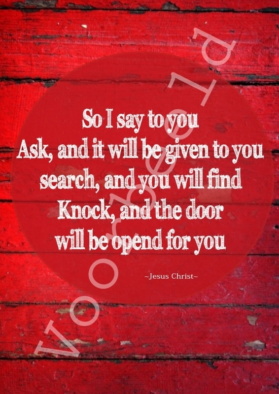 Ask, and it will be given