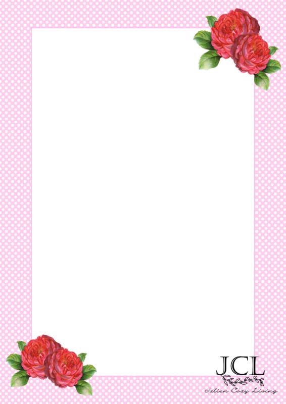 Briefpapier Polkadot Bloemen (PDF)