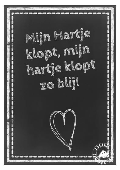 Poster Mijn Hartje Klopt... (PDF)