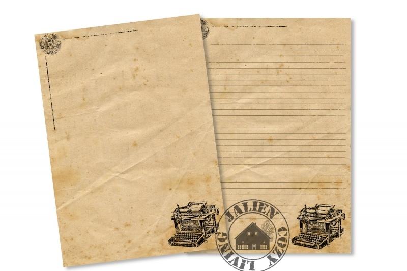 Briefpapier Vintage Typemachine (PDF)