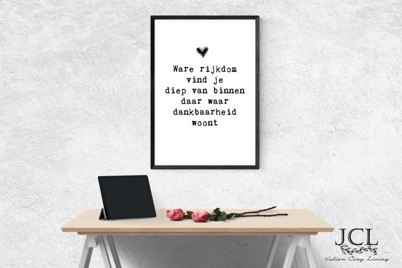Poster Ware Rijkdom vind je diep van binnen.... (PDF)