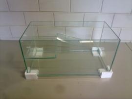 Schildpad aquarium 80x50x50