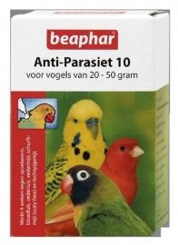 Beaphar anti-parasiet 10 (vogels 20-50 gram) 2 pipetten