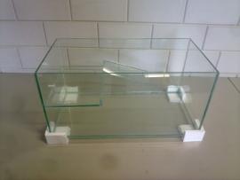 Schildpad aquarium 60x30x30