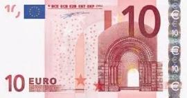 Aanbetaling 10,= euro