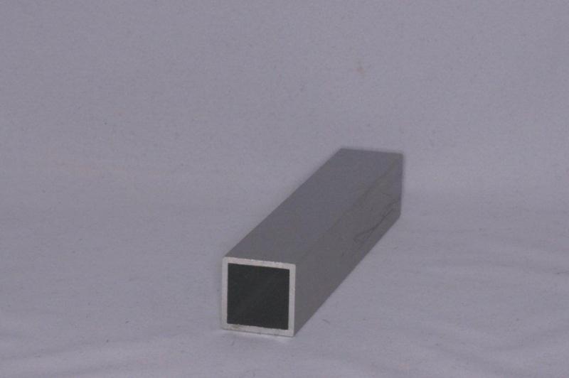 Aluminium koker 25x25mm/1,5mm wanddikte/per meter