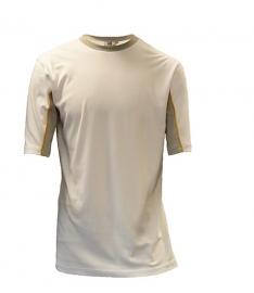 Be-Wear T-shirt korte mouwen wit/grijs