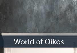 Oikos designpleisters: Raffaello, Decor Stucco, Veneziano, Ottocento, etc. (prijs op aanvraag). Info op www.worldofoikos.nl