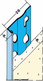 1216H stucstop verz.staal (6mm) 2,60mtr (25 lgt)