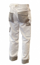 Be-Wear werkbroek wit/grijs DELUXE
