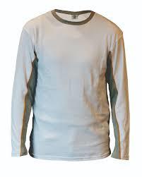Be-Wear T-shirt lange mouw wit-grijs