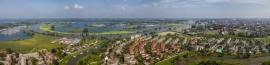 Panoramafoto Roermond, stad aan het water 120 x 28