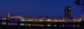 Venlo Maasboulevard by night - Canvas